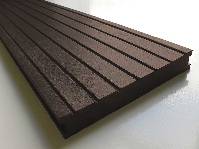 Recycled mixed plastic decking 195 x 28mm for Reclaimed wood decking